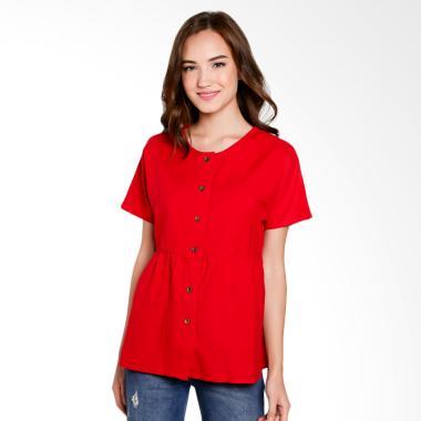 Just Fashion Blouse Wanita - Merah