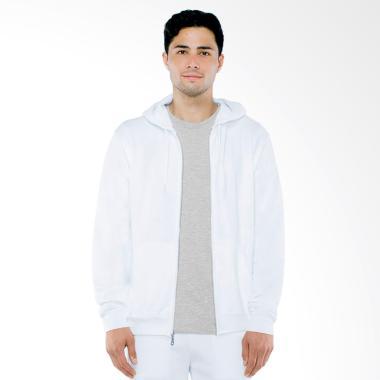Refill Stuff Hoodie Polos Jaket Pria - Putih