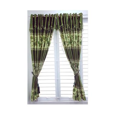 KONG Curtains BO PR 5 Gorden - Hijau [12 Lubang/Tanpa Tali]