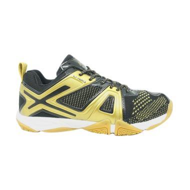 LINING Omega Sepatu Badminton Pria - Black Gold [AYTM087-2]
