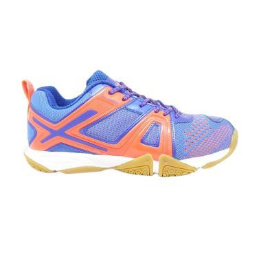 LINING Omega Sepatu Badminton Pria - Blue Orange [AYTM087-3]