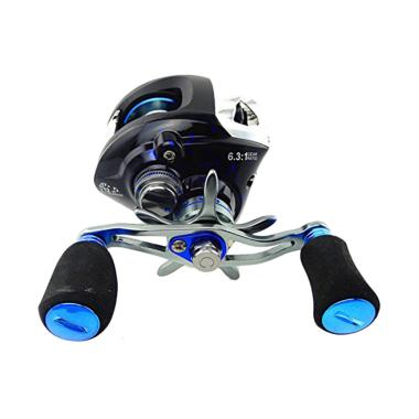 Selft Metal Gulungan Pancing - Blue Black [12+1 Ball Bearing]