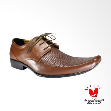 LISMEN Silversea Sepatu Kulit Pria - Brown [LM-7701]