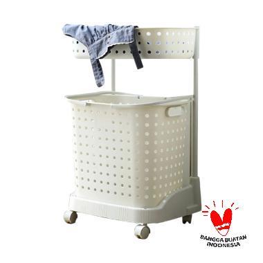 The Olive House 2T Moving Laundry Basket Keranjang Baju
