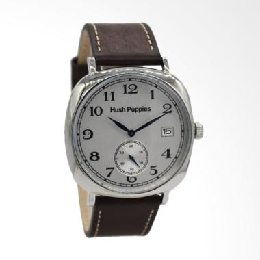 Hush Puppies Dial Detik Analog Jam Tangan Pria - Brown [HP.3858M.2522]