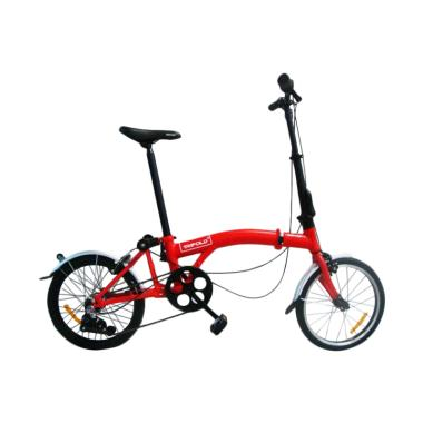 United Trifold 3 Sepeda Lipat - Red [16 Inch] 3 speed internal Gear
