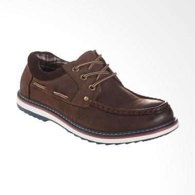 Jim Joker Casual Shoes Fire 1CA Sepatu Pria - Coffee