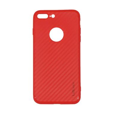 Lize Design Carbon iPhone 7 Plus Ca ... + Ukuran 5.5 Inch - Merah