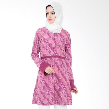 Arya Putri Batik Alindra ATM-004-P Baju Batik Muslim Wanita - Pink