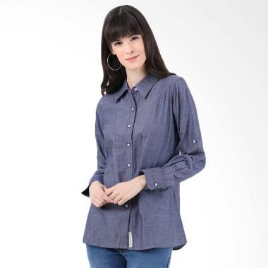 Mobile Power H8364 Ladies Ezra Basic Long Sleeve Denim Shirt - Denim