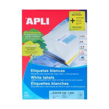 APLI #02418 Label White Paper [99.1 x 34 mm/ 1600 unit]