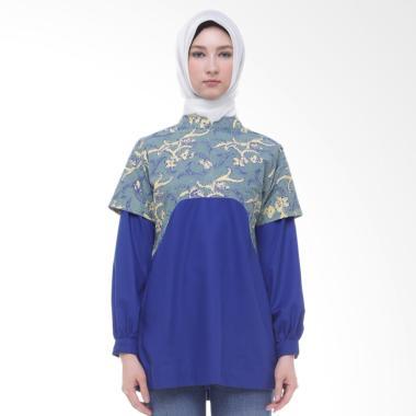 Arya Putri Batik Harita ATM-008-GyB Atasan Muslim Wanita - Grey