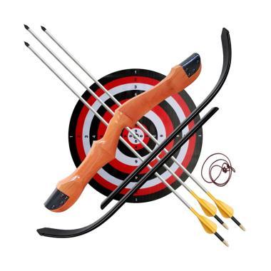 Busur Panah R60 165 cm/24 lbs + 3 Anak Panah, Target dan Panduan