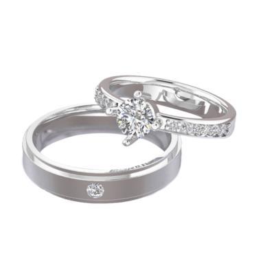 Spilla Jewelry CK-24 Sterling Silver 925 Cincin Couple