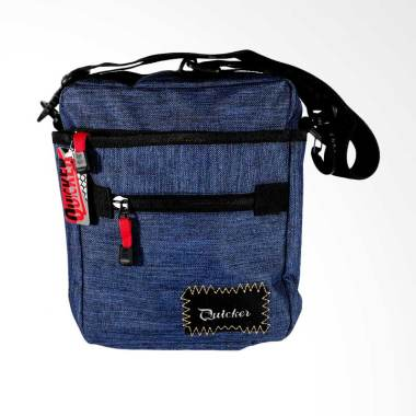 Quicker Kanvas Denim Selempang Pria - Biru
