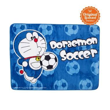 Doraemon Valvet Doraemon Soccer Carpet Alas Lantai - Blue