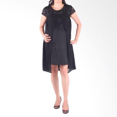 HMILL 1435 Baju Dress Hamil - Hitam