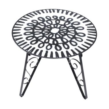 My choice Enamel Fiona Side Table with Tray [60 cm]