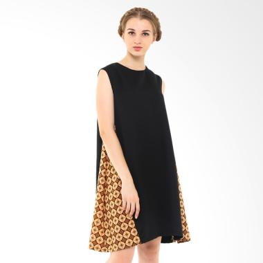 STEPH Tent Dress Batik - Black Brown