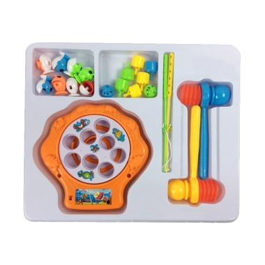 MOMO 2in1 Fising Game & Hammer Play Set Mainan Anak - Orange
