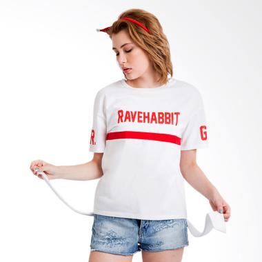 Rave Habbit Carol Tshirt Wanita - White