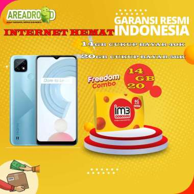 harga Realme C21 [3/32 GB] Realme C21 3 GB 32 GB Bundle Indosat Garansi Resmi Bundle 14GB Blibli.com