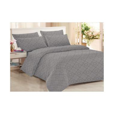 Clarin House Emboss Jacquard Set Sprei dan Bed Cover - Storm Front