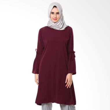 Jfashion Two Tones Tunik Liora Combination Abu Muda Daftar Source · Covered Up Iswara Tunik Muslim