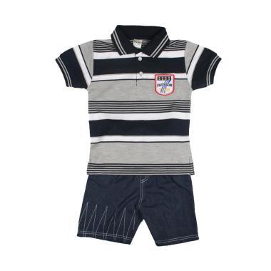 TOMPEGE TP-63510 Setelan Kerah Lakos Polo Baju Anak Laki - Hitam