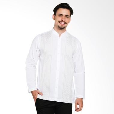 INTRESSE Burnt Long Baju Koko Pria - White