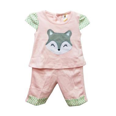 Gracie W56 Setelan Baju Bayi  Perempuan - Peach