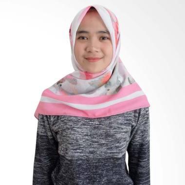 BELI Tiffany Kenanga Printing Flower Paint Katun Voal Hijab Segiempat EXCELENT
