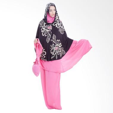 Boontie Poncho Mukena - Pink Black