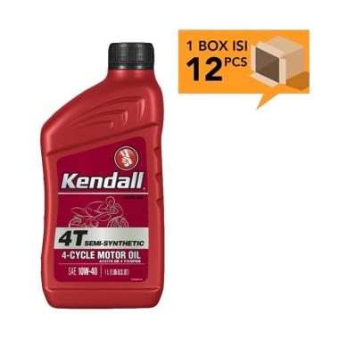 Kendall 4T Semi Synthetic 4 Cycle JASO MA Motor Oil SAE 10W