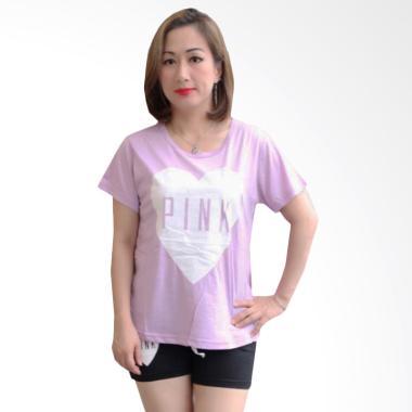 Aily SL018 Love Pink Setelan Baju Tidur Wanita - Ungu