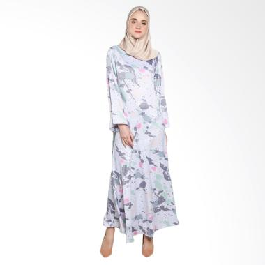 Covering Story C Ceila Dress Muslim Wanita - Light Grey