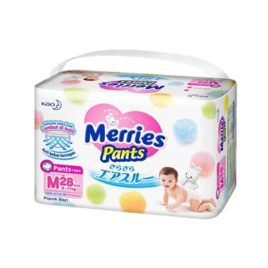 harga Merries M28 Pants Diapers Popok Bayi [M28] Blibli.com