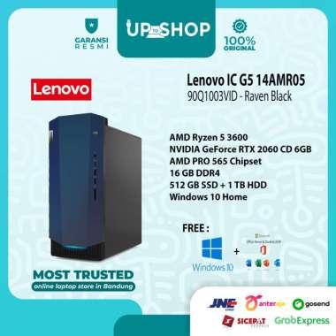 harga Lenovo IC G5 14AMR05 - 3VID - PC Desktop - [AMD Ryzen 5 3600 / 16GB DDR4 / 512GB SSD + 1 TB HDD / RTX 2060 CD 6GB / WIN 10 + OHS 2019] Raven Black Blibli.com
