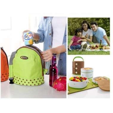 harga Promo Tas Bekal Makanan Anak Cooler Bag Lunch Box Bag - Orange Murah Blibli.com