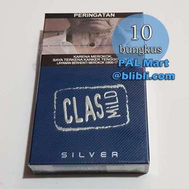 rokok CLAS MILD SILVER 16 [1 slop / 10 bungkus @ 16 batang] / class biru