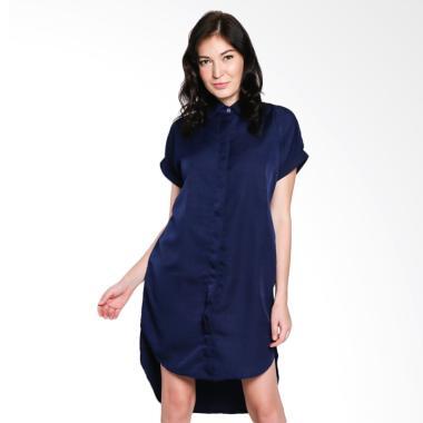 Papercut Fashion NK Kiyora Shirt Dress Wanita - Navy