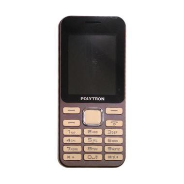POLYTRON C249 Candybar Handphone - Brown [Dual Sim/ Camera]