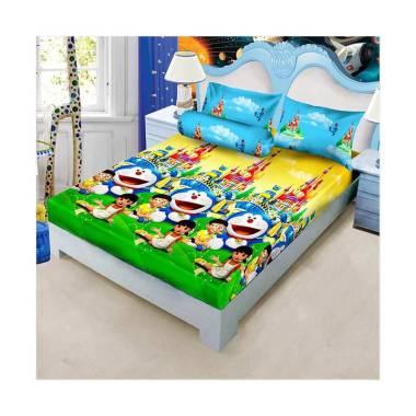 Kintakun Sprei D'luxe  - 180 x 200 (King) - Doraemon Kingdom