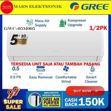 AC GREE GWC-05M005 / 0,5PK ( 1/2 PK ) / KOMPRESSOR UPGRADE / GWC 05 M005 / STANDARD / READY HANYA UNIT