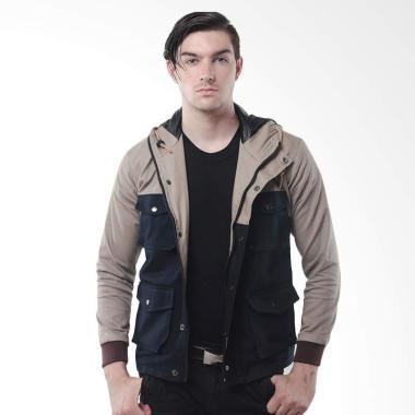 Alphawear Parka Trend Color Style Jaket Pria - Coklat