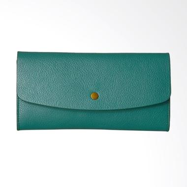 Fossil Haven Leather Large Flap Dompet Wanita - Teal Green