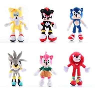 harga Mainan Boneka Plush Landak Sonic The Hedgehog Dengan 6 Warna Blibli.com