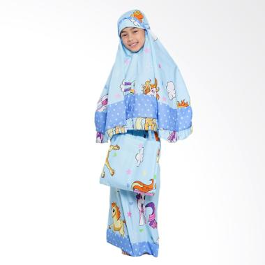 Zahra Kids Little Pony Star Mukena Anak - Blue