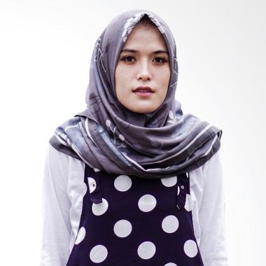 Miranti Scarf Jilbab Segiempat - Grey