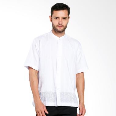 Aitana Bordir Baju Koko Pria - Putih [YN-11741-SS]